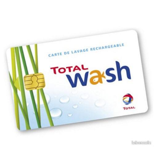 Carte lavage total wash