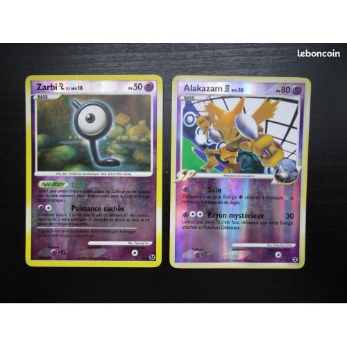 Cartes Pokémon BRILLANTE (violet)